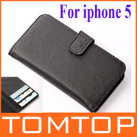 For Apple iPhone Leather For Christmas Protective Flip Case Cover Skin PU Leather CASE with Card Wallet for iphone5 iPhone 5 5th PA1318