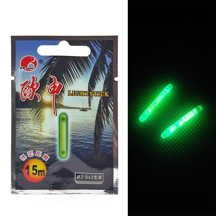 Night fishing fluorescent light float glow stick for Best light for night fishing