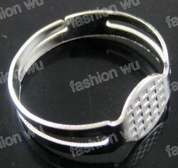 Wholesale MIC Adjustable Round Ring Blank Pad Base MM Jewelry DIY fashion hot sell item