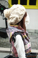 Wholesale 2012 Winter Hats For Women All match Cross Twist Knitted Hat Fashion Beanies Women Winter Cap