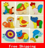 Wholesale Interesting Kids Toys Stereo Puzzle Wood Child Wooden Jigsaw Puzzle Educational Toys