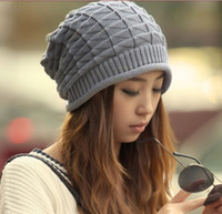 Wholesale NNew Arrival Women s Winter Hats Gray Acrylic Warm Lady s Headwear Quality Goods Nice Hat For Female