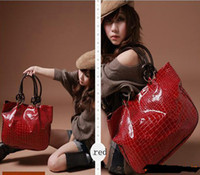 Wholesale Fashion Red Women Ladys PU Leather purses handbags Totes HOBO Shoulder Bag hot sales