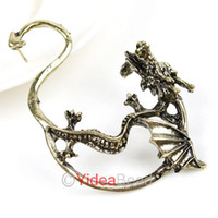 Wholesale 11pcs Gothic Punk Rock Temptation Fly Dragon Ear Cuff Clip Earrings
