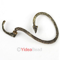 Wholesale 14pcs Gothic Punk Rock Temptation Antique Bronze Snake Shaped Ear Cuff Clip Earrings