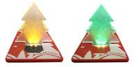 Precio de Tarjetas de navidad baratos-Llevado árbol de Navidad de bolsillo luz LED tarjeta de lámpara de regalo de tarjeta de crédito linterna Led árbol de Navidad de color precio barato