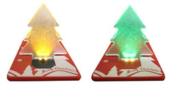 Tarjetas de navidad baratos en Línea-Llevado árbol de Navidad de bolsillo luz LED tarjeta de lámpara de regalo de tarjeta de crédito linterna Led árbol de Navidad de color precio barato