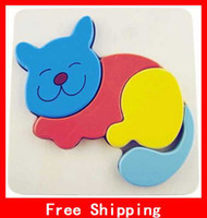 Wholesale Animal Stereo Puzzle Wood Child Wooden Jigsaw Puzzle Interesting Educational Toys