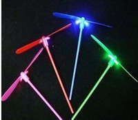 Wholesale Glow Lights Toys LED Flash bamboo dragonfly sells luminous flash toys
