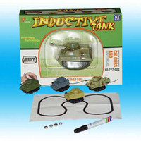 Wholesale pen toy car electric mini Magic Inductive Fangle Tank run following the line you draw