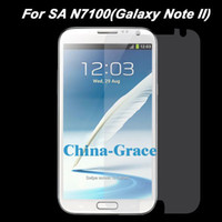 Wholesale Transparent Screen Protector Film For Samsung Galaxy Note II N7100 Cell Phone Guard Films T227 B