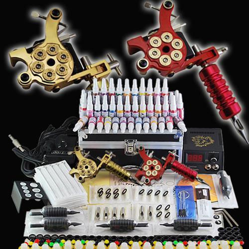 Tattoo starter kit 2 guns supply set equipment cash coupon for Starter tattoo kits