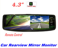 Wholesale 4 quot LCD RearView Mirror Car dvd Reverse Monitor Touch Screen Buttons