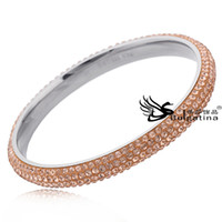 Wholesale Fashion Jewelry Custom Bangles With Four Row Rhinestones Beautiful Crystal Jewelry Bangles For Women Designs Best Gift For Friendship Style