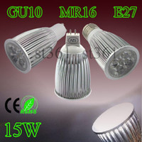 Wholesale 1X Hot High Quality Led Spotlight Bulbs Lamp Spot Light GU10 MR16 E26 E27 x3W W