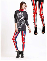 Wholesale Hot Sell Woman Punk Legings Nine minutes of pants personality Legs one color