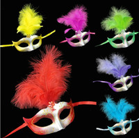 Wholesale Feather Powder Mask Halloween Mask Masquerade Mask Adult Child mask