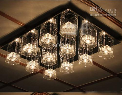 2017 modern minimalist crystal ceiling lighting lamp for bedroom and living room from soon 15137 dhgatecom - Living Room Lighting Ceiling