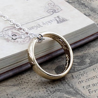 Wholesale The Lord of the Rings Pendants Necklaces Punk Jewelry Fashion Gothic Style Unisex a