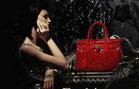 Wholesale WOMEN SHOULDER BAG designer handbags REAL LEATHER Alligator Pattern bags tote bag