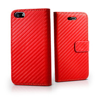 Wholesale 100pcs Wallet Book Flip Carbon Fibre Leather Hard Case Cover For Iphone G
