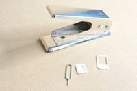 Wholesale Micro SIM to Nano SIM cutter for iPhone and Other Phones with Adapters new arrival