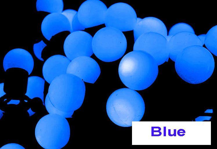 Halloween Lights Sale 5m Led Round Bulb String Curtain Lights Blue ...