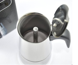Wholesale COFFEE MAKER STAINLESS STEEL ITALIAN MOKA POT CAFFETTIERA CUPS ML