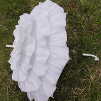 Wholesale Wedding Bridal Handmade Parasol Lace Umbrella white color new
