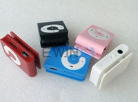 Wholesale 200x NEW Mini Clip Mp3 player with card slot MP3 earphone OPP bag christmas gift factory price