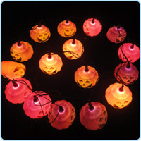 Wholesale Halloween props pumpkin lamp set pumpkin lantern haunted house supplies Halloween decoration