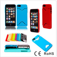 Plastic For Apple iPhone For Apple iphone 5 5G ID Credit Card Hard Plastic PC Case Cover Skin Pouch For iphone 5 5G iphone5 5GC65 300PCS lot