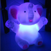 Wholesale The elephant figurine colorful night light like a baby Nightlight manufacturers Elephant Nightlight