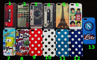 Wholesale One direction Polka Dot Restore tape calculator HAHA camera case back cover for iphone mix design