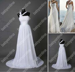 Wholesale Full Refund Guarantee Classic One Shoulder Chiffon Sweetheart Beach Wedding Dresses MG392