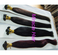 "brown straight 1.0g 20"" #2 Darkest Brown Color 100g 100strands lot Indian Remy Human Hair Pre Blonded Flat Tip Keratin Glue Hair Extensions AAA Grade"