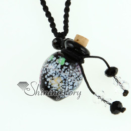 Italian murano glass small wish bottle charm pendant necklaces empty vials necklaces for ashes vintage perfume bottle pendant necklaces