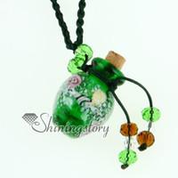aromatherapy pendant - aromatherapy necklace diffuser Fashion jewellery glass bottle pendant flower jewelry Mun021 cheap china fashion jewellery