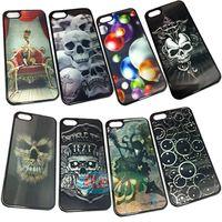 Plastic plastic skull - High quality D Skull Heads patterns Halloween D models Back Cover PC Skin Cases For iPhone Case