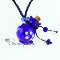 animal glass perfume bottles - Cat animal perfume bottle Italian venetian lampwork blown ccc glass pendants necklaces jewelry