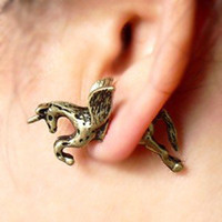 Wholesale Fahion vintage Horse ear cuff Earplug Earrings Fashion Earring Jewelry JYR002