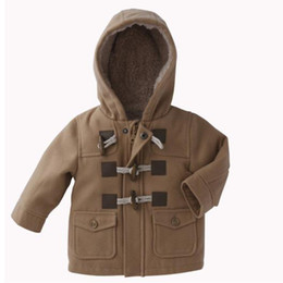 Wholesale boys coats baby jacket infant topcoat overcoat Horn button Cardigan baby clothes down jackets C83