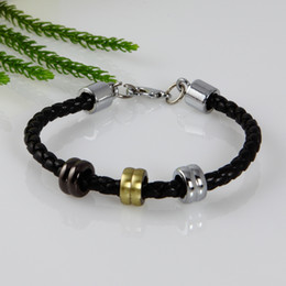 Fashion woven charm real leather bracelets jewelry for men and women unisex