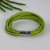 Wholesale woven leather bracelets Cheap china jewelry fashion jewelry hand made jewelry