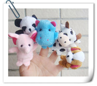 Wholesale Baby Plush Toys Cute Animal Finger Puppets Hot Selling Talking Props Multi function educational toys