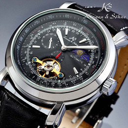 Wholesale Mechanical Mens Watches Automatic Genuine KS Luxury Tourbillion Moon Phase Wrist Watch KS068