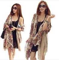 long silk scarf - NEW Bohemian Totem Vintage Flowers Shawl Scarf Tassel Long silk scarves