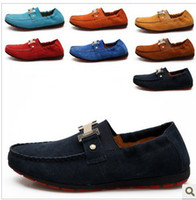 Slip-On Men Leather Casual shoes shoes shoes really lazy British sailing trend of shoe suede leather fashion shoes