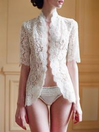 Wholesale 2013 White Ivory Babyonline Bridal Lace Jacket Bolero Long Sleeves Sexy Wedding Coat Wrap