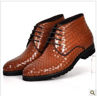 Wholesale 2012 new fashion business leather shoes men shoes short boots high to help British fashion boots boo